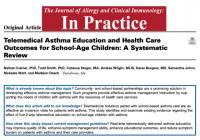 学童に対する遠隔での喘息教育の効果: A Systematic Review